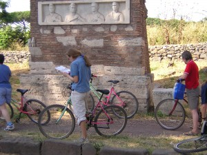 You can rent a bike for a day and bike up the Appian Way to visit the tombs of the Roman necropolis.
