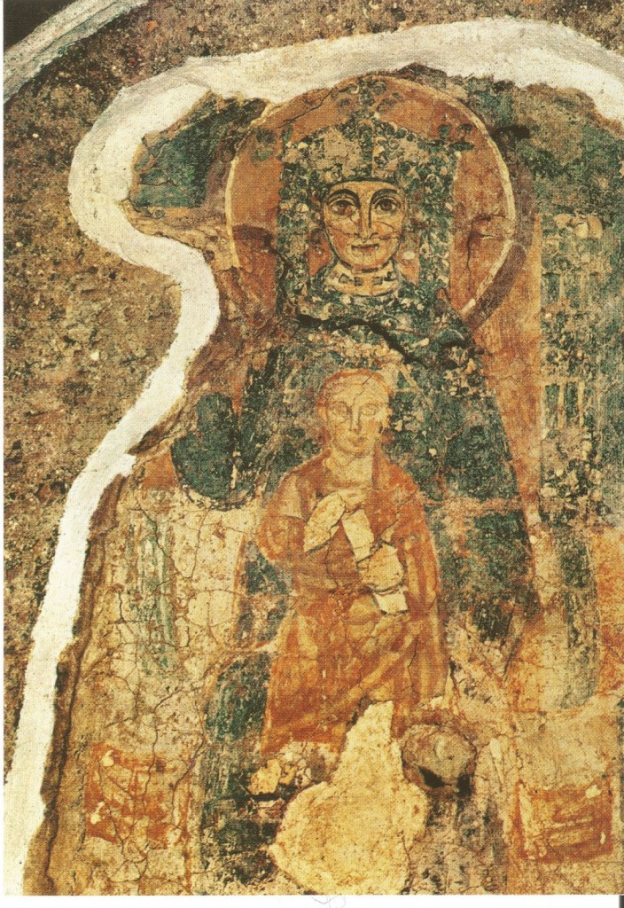 Madonna and Child in 4th-cent Basilica San Clemente