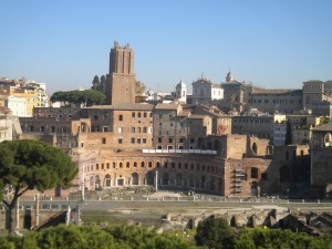 Rome's layers: ancient, Medieval, Renaissance, modern, all jumbled together in an insoluble stack of meaning and contradictions.