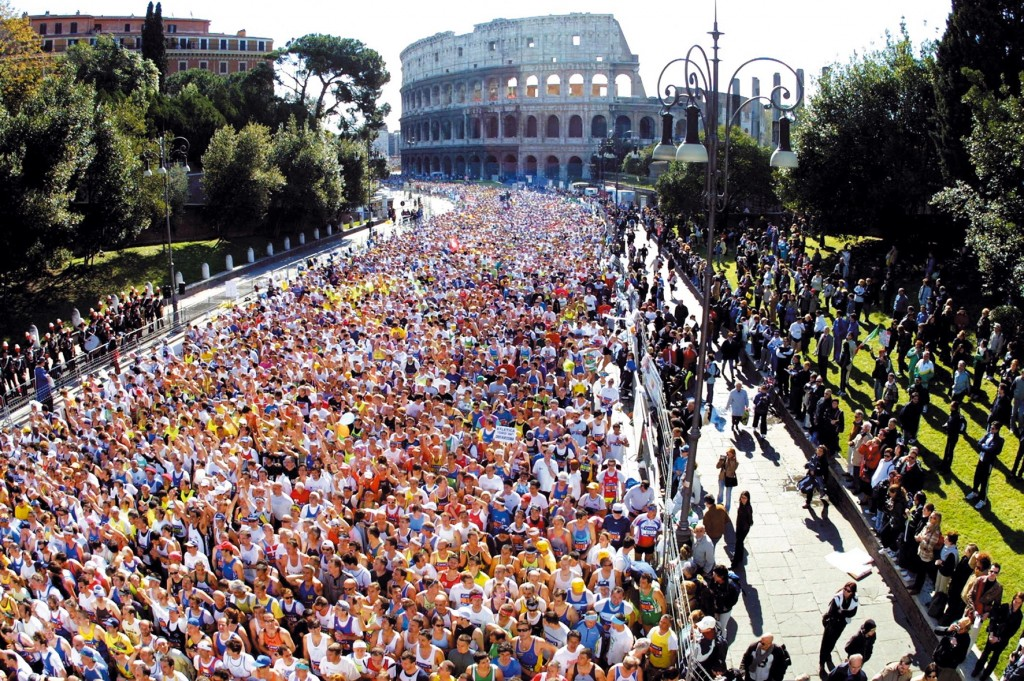 Rome's marathon.  No city planner would put these things in this arrangement, ever!  But history did.