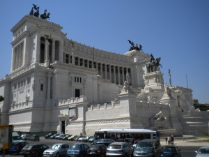 Mussolini's huge thing, built onto the front of the Capitoline.  Modern consensus: Do not want!