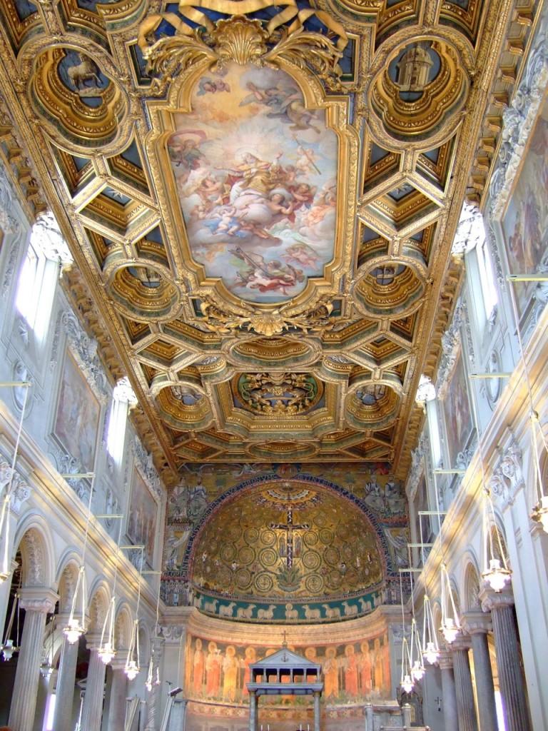 basilica san clemente ceiling