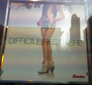 "The Batta ""Dificult to Resist"" women's add."