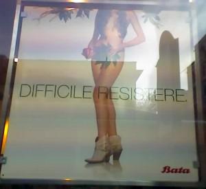 """The Batta """"Dificult to Resist"""" women's add."""